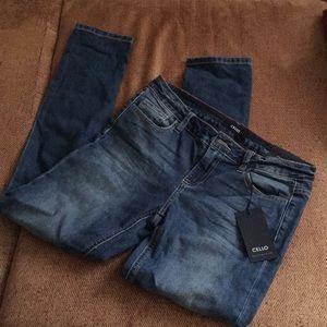 Dark skinny jeans